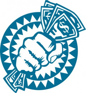 fist with cash