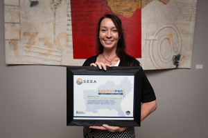 LEAP's Executive Director Cynthia Adams with our Pro3 Award