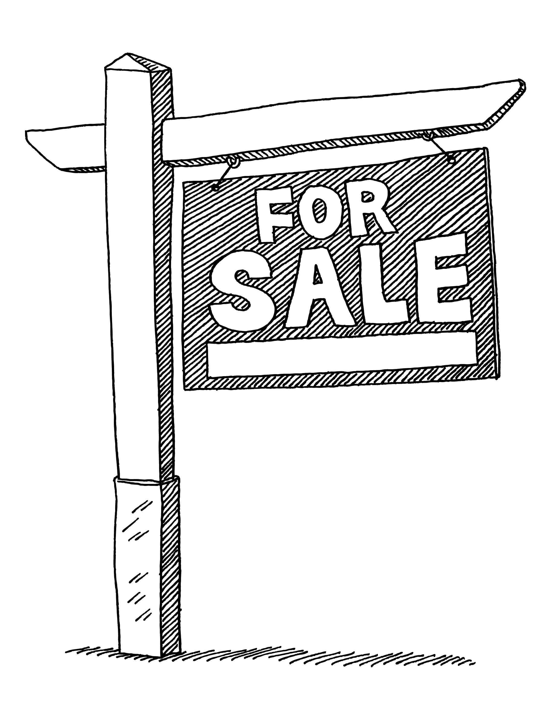 For Sale sign illustration april 2015